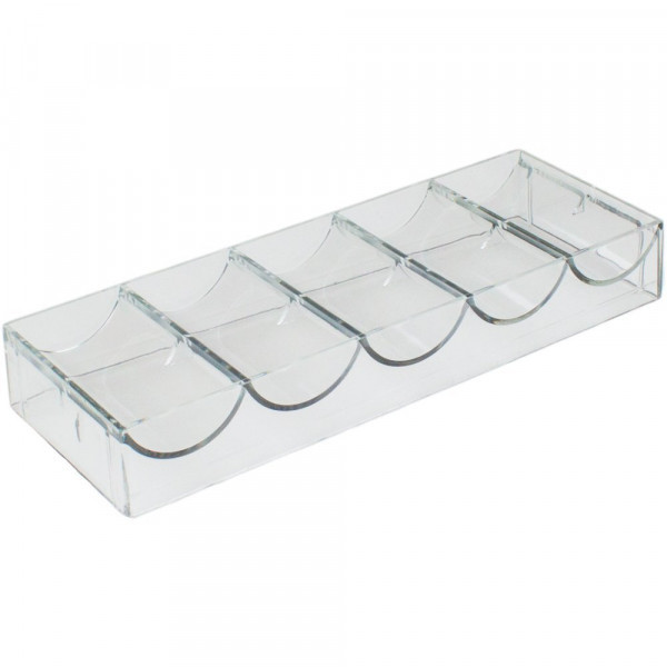 Clear Acrylic Poker Chip Rack (100 Chips)