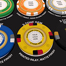 Yellow Clay Poker Chip in Sample Pack
