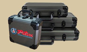 Gunmetal Poker Cases